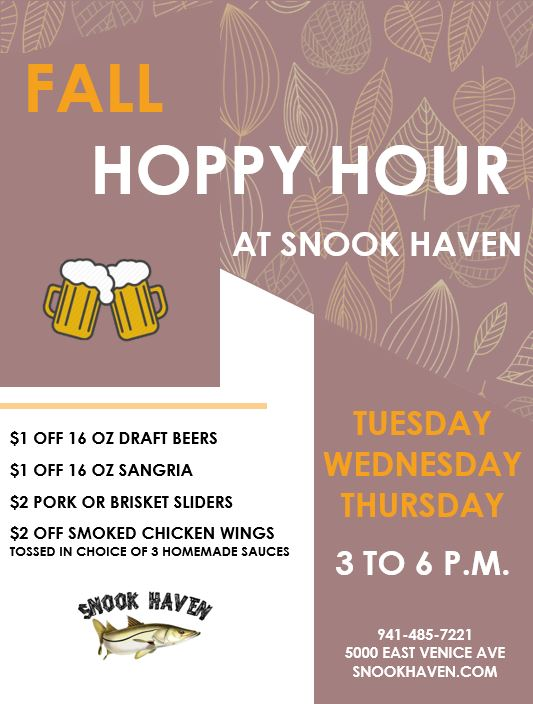 """Fall """"Hoppy Hour"""" at Snook Haven"""