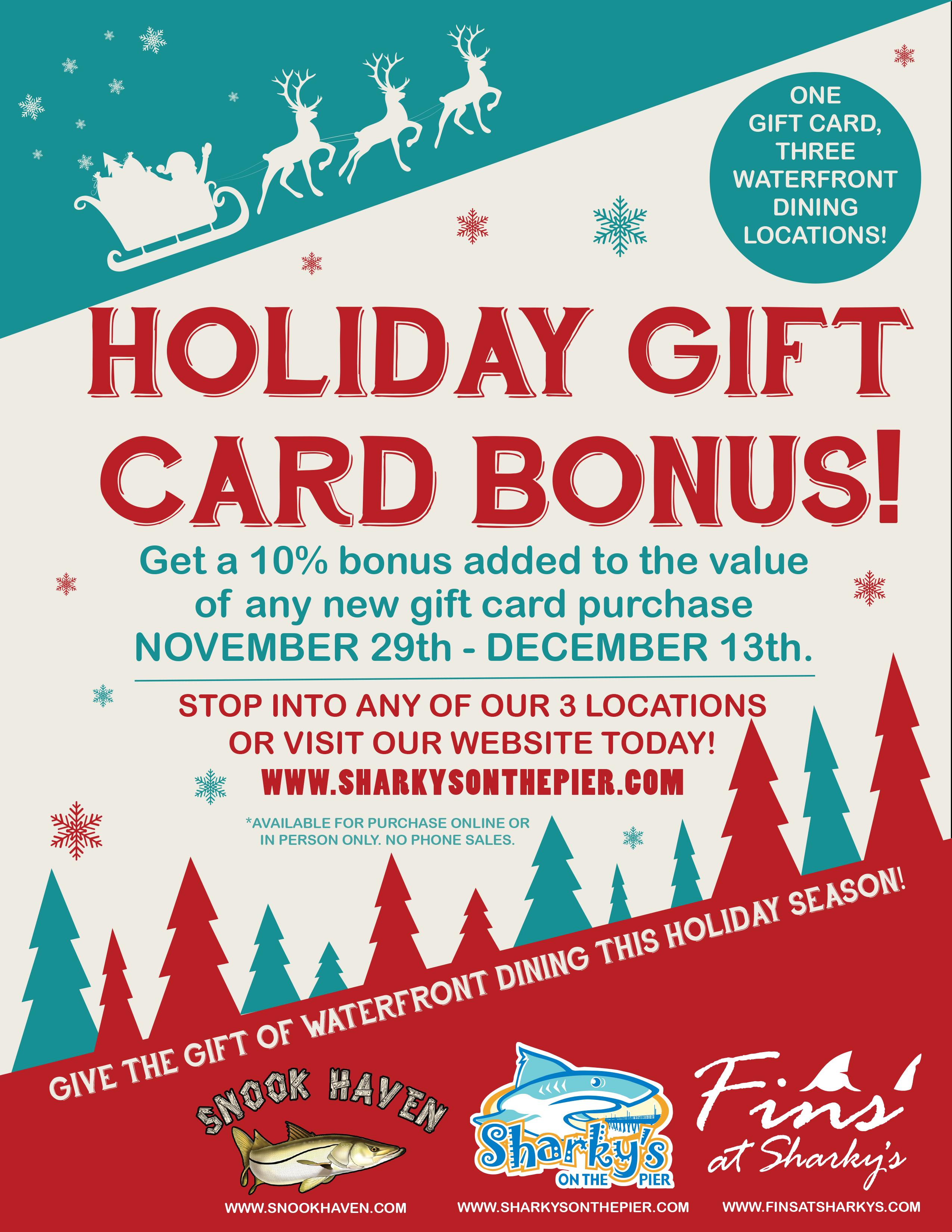 2019 Holiday Gift Card BONUS!