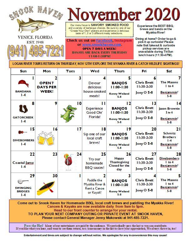 November Music & Event Calendar