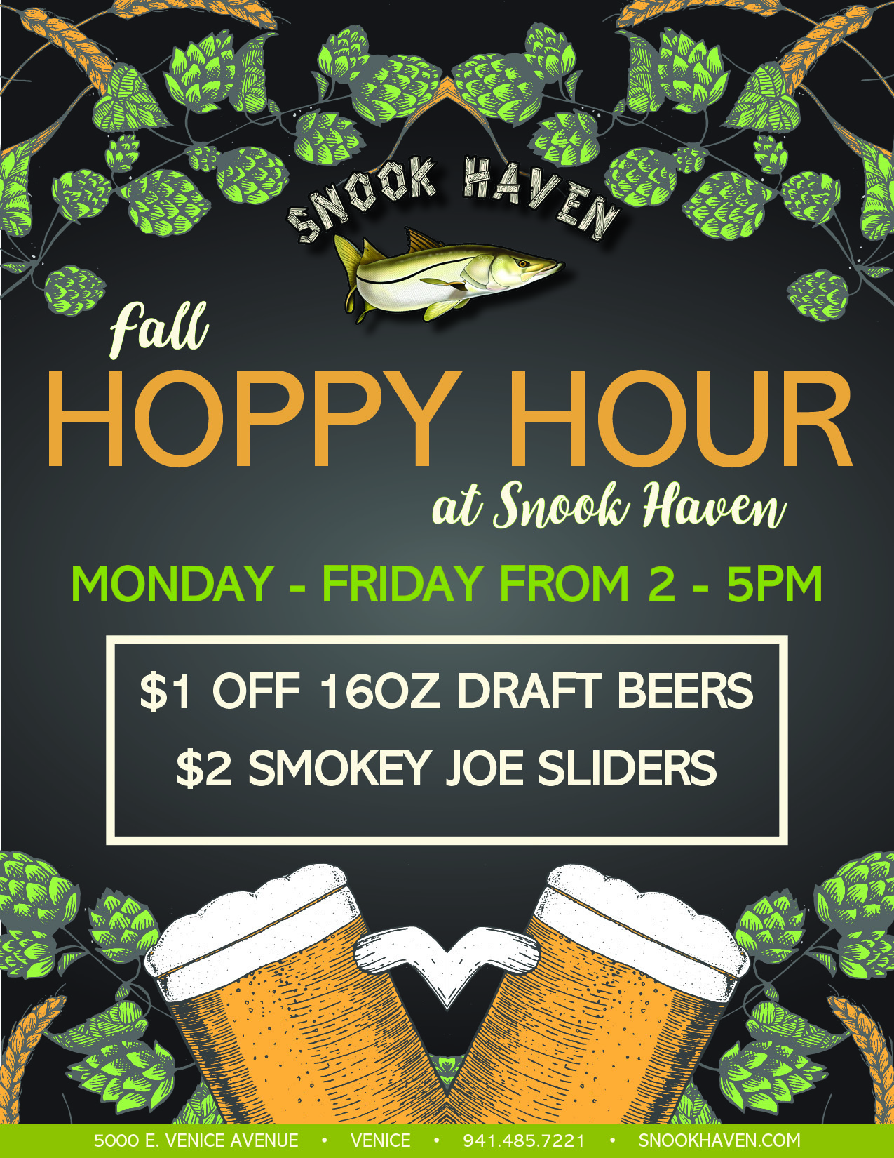 Fall & Winter Hoppy Hour at Snook Haven