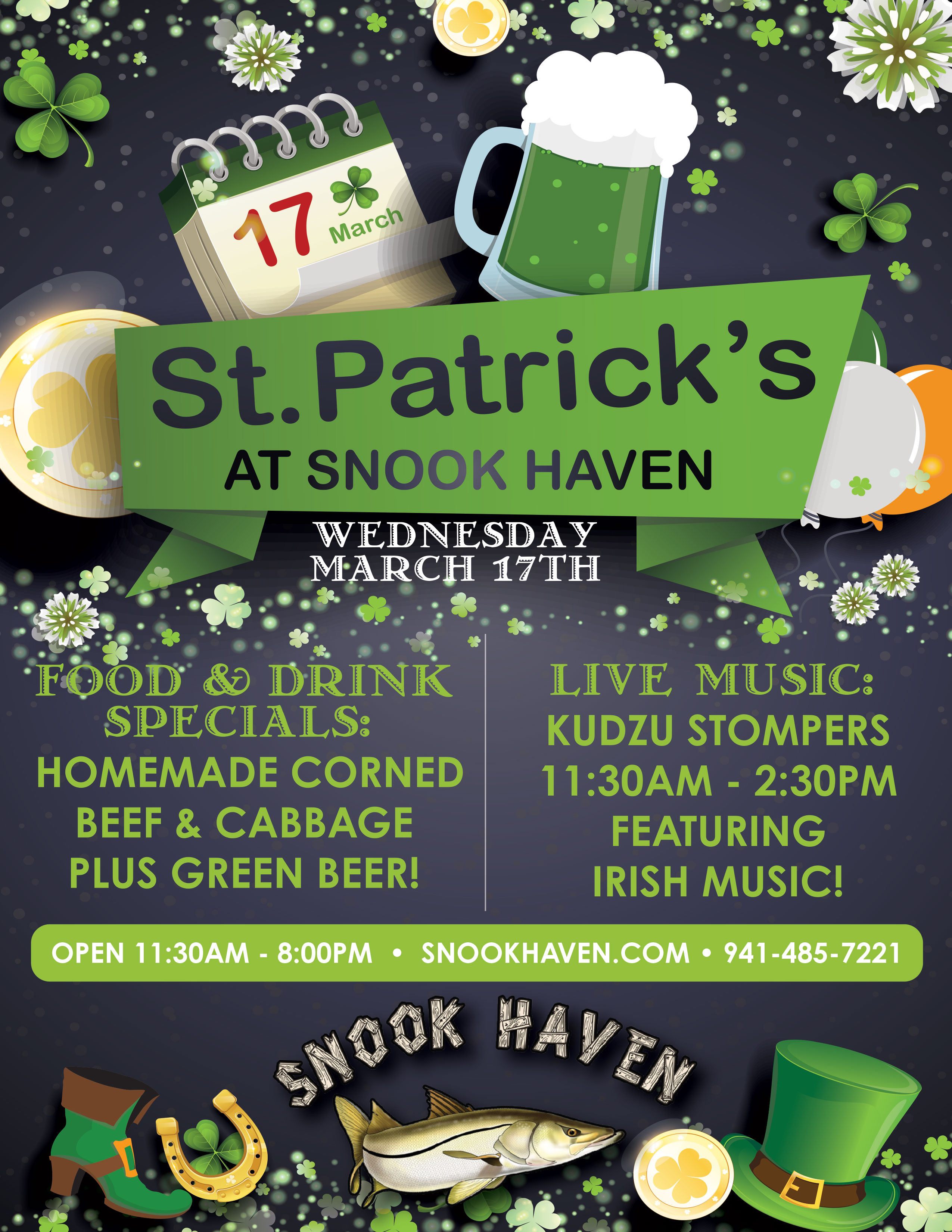 St. Patrick's Day at Snook Haven