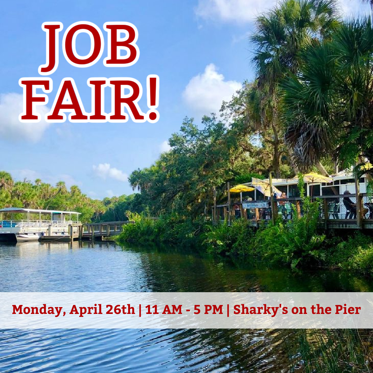 Sharky's, Fins and Snook Haven to Host April Job Fair