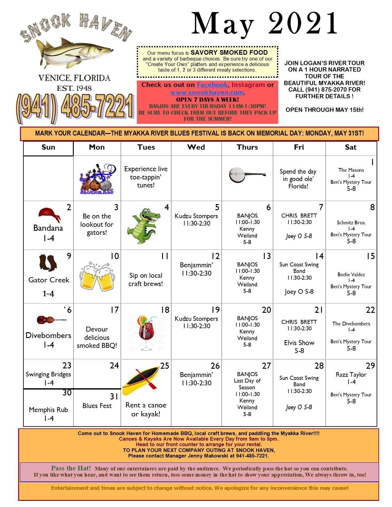 May Music & Event Calendar