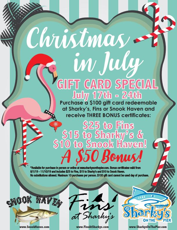 Christmas in July Gift Card Special