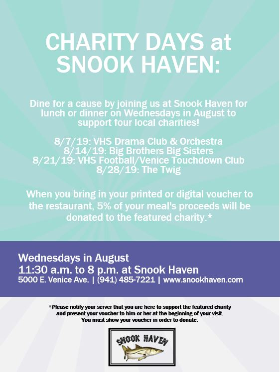 """Snook Haven to Support Local Charitable Causes with First-Time """"Charity Days"""""""